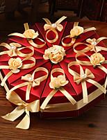 Cajas de regalos(Rojo,Papel de tarjeta) -Tema Playa / Tema Jardín / Tema Asiático / Tema Lazo / Tema Clásico / Tema Fantástico-Cumpleaños