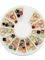Color Panel Mount Pearl Rivet Metallic Finger Decoration Metal Nail Jewelry