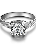 1CT Twist Setting SONA Diamond Ring for Women Sterling Silver Micro Paved 3 Layers Platinum Plated Never Fade or Tarnish