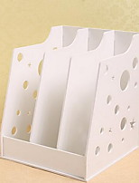 Carve Patterns or Designs on Woodwork Receive Arrange Box White Newspaper Stand