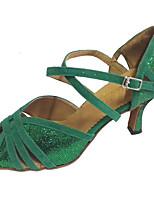 Customized Women's Latin Sandal Customized Heel Salsa Shoes