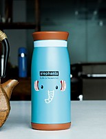 1pc creativa de dibujos animados barrigones taza de acero inoxidable ventosa (500 ml) color al azar