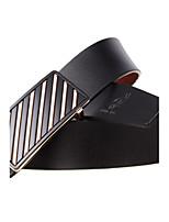 Men's Belts Black Bottom Slash Matel Buckle leather Casual Business Belts