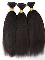 3pcs/lot Kinky Straight Bulk Hair 12