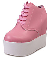 Women's Shoes PU Summer Wedges Heels Casual Wedge Heel Others Black / Pink / White