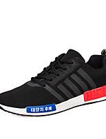 Da uomo-Sneakers-Sportivo-Ballerine-Piatto-Tulle-Nero / Nero e rosso / Blu reale