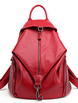Women Sports / Casual / Outdoor / Shopping PU Zipper Backpack
