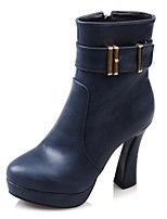 Women's Shoes Platform / Fashion Boots / Round Toe Boots Party & Evening / Dress / Casual Chunky Heel Buckle /