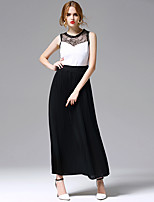 AFOLD® Women's Round Neck Sleeveless Maxi Dress-5687
