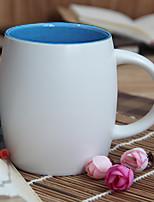 1Pc 500Ml Ceramic Cup Authentic Creative Mark Cup Tea  Glass Coffee Cup Random Color