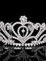 여성 라인석 투구-웨딩 / 특별한날 왕관 1개