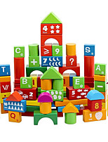 100 Alphanumeric Barreled Wooden Blocks Wholesale Children'S Early Childhood Educational Toys Chunk Of Solid Wood