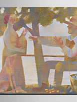 Mini Size E-HOME Oil painting Modern The Farmer And His Wife Pure Hand Draw Frameless Decorative Painting
