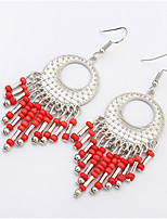 Earring Oval Drop Earrings Jewelry Women Tassels / Fashion Party / Daily / Casual Alloy / Resin 1 pair Black / White / Red / Blue