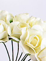 1PC Paper Flowers Mini Rose Flower Hand Made Small Wedding Bouquet Scrapbooking Christmas Decor Artificial Flowers