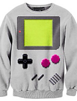 3D Hoodies Geometric Game Print Cosplay Costumes Hoodies Geeky Clothing Round Neck Long Sleeves For Male/Female