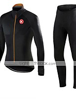 KEIYUEM®Others Winter Thermal Fleece Long Sleeve Cycling Jersey+long Tights Ropa Ciclismo Cycling Clothing Suits #W37