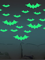 Luminous Wall Stickers Halloween Bats Decorative Wall Children Home Decoration Originality& Cartoon