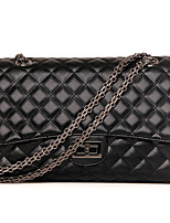 Women-Formal / Casual / Office & Career / Shopping-PU-Shoulder Bag-Black