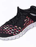 Men's Shoes Tulle Casual Walking Flat Heel Braided Strap Black / Blue EU39-43