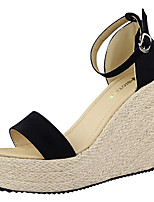 Women's Shoes Velvet Wedge Heel Wedges Heels Party & Evening / Casual Black / Pink / White / Silver / Gray / Gold