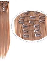 clip en extensiones de cabello sintético de 22