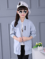 Girl's Casual/Daily Solid Suit & Blazer / Trench Coat,Cotton Spring / Fall Blue / Pink