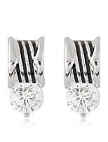 Formé Carrée,Bijoux 1 paire Adorable Argent / Blanc Alliage / Zircon Soirée / Quotidien / Décontracté