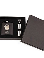 Personalized Wedding Party Gifts, Stainless Steel Engraved Wedding Flasks Set,Bridesmaid Gifts(6 oz)