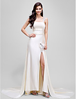 Formal Evening Dress Sheath / Column Straps Court Train Jersey with