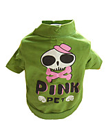 Chat / Chien Costume / T-shirt Vert Eté / Printemps/Automne Crânes Cosplay / Halloween, Dog Clothes / Dog Clothing-Other