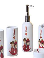 caráter cilíndrica padrão banheiro caixa de cinco peças terno +