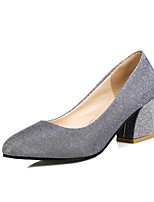 Women's Shoes Glitter / Customized Materials Chunky Heel Heels / Basic Pump / Round Toe Heels Office & Career / Party