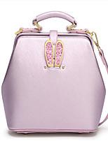 Women-Casual-PU-Shoulder Bag-Pink / Black