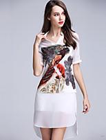 Viva Vena® Women's Round Neck Short Sleeve Knee-length Dress-VA88160