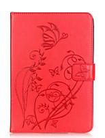 Pour Porte Carte Autre Coque Coque Intégrale Coque Fleur Flexible Cuir PU pour Apple iPad Mini 4