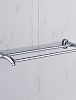 Barre porte-serviette / Chrome / Fixation Murale /60*15*10 /Alliage de Zinc /Contemporain /60 15 0.847