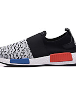 Men's Shoes Stretch Satin Athletic Sneakers Athletic Sneaker Flat Heel Slip-on Black / Blue / White