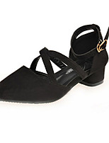 Women's Shoes Fleece Summer Pointed Toe Heels Casual Low Heel Others Black / Pink / Red / Gray