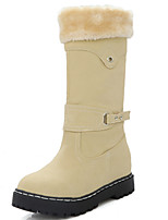 Women's Shoes Wedge Heel Snow Boots / Round Toe Boots Dress / Casual Black / Blue / Yellow / Beige / Burgundy