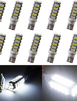 10pcs T10 1206 68 SMD White LED Car Side Wedge Lamp Marker Bulb License plate lights (DC12V)