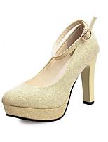 Damen-High Heels-Lässig-PU-Blockabsatz-Absätze-Schwarz / Rot / Weiß / Gold