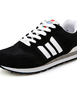 Men's Shoes Cotton Athletic Sneakers Athletic Sneaker Flat Heel Lace-up Black / Blue / Red