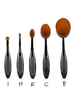 5PC/Set Pro Toothbrush Shaped Eyebrow Foundation Power Face Eyeliner Lip Oval Cream Puff Brushes Makeup Beauty Tools