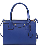 Women-Formal / Casual / Office & Career / Shopping-PU-Tote-Blue / Red / Black / Burgundy