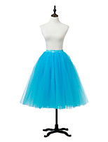 Slips Ball Gown Slip Knee-Length 1 Tulle Netting / Acrylic Birdal Wedding Petticoats