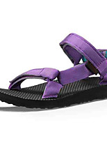 Women's Shoes Fall Flats Sandals Outdoor / Athletic Flat Heel Magic Tape / Braided Strap Purple