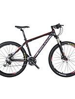 Mountain Bike Men's Air Suspension Fork Double Disc Brake Aluminium 30Speed 26 Inch Aluminium Red