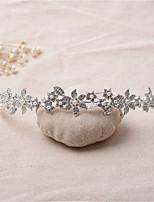 Vrouwen Bergkristal / Licht Metaal Helm-Bruiloft / Speciale gelegenheden Tiara's 1 Stuk Helder Onregelmatig 16.5
