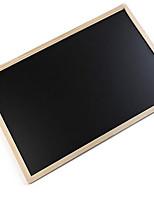 50 * 70cm en bois double face suspendu magnétique tableau noir (couleur aléatoire)